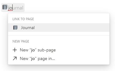 Andere Benutzer oder Seiten verlinken bzw. Datum hinzufügen in einem Notion-Text - Suche