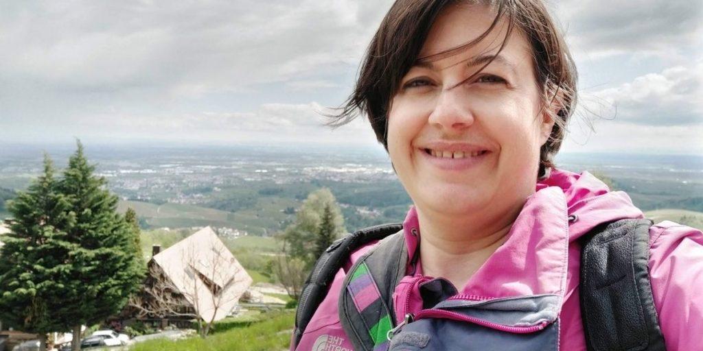 Selfie in Sasbachwalden mit Blick ins Rheintal