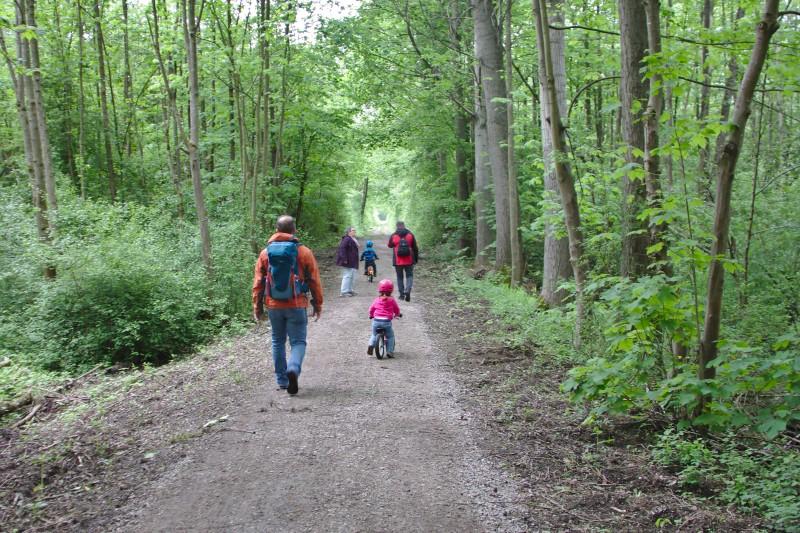 Wanderung mit Oma und Opa durch die Rheinauen