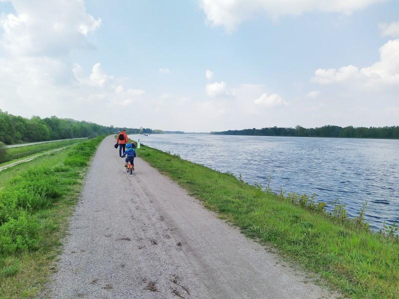 Wanderung bzw. Radtour am Rhein entlang
