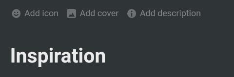Menü zum Hinzufügen von Icons und Cover-Bildern auf einer Notion-Seite