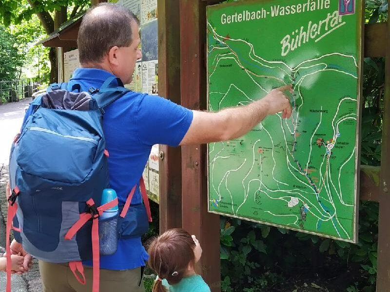 Wanderung Gertelbacher Wasserfälle - Start der Tour