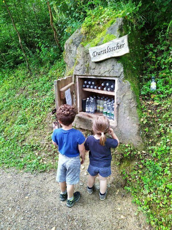 Wanderung Vesperweg und Naturerlebnispfad Oberharmerabach - Durstlöscher auf dem Vesperweg