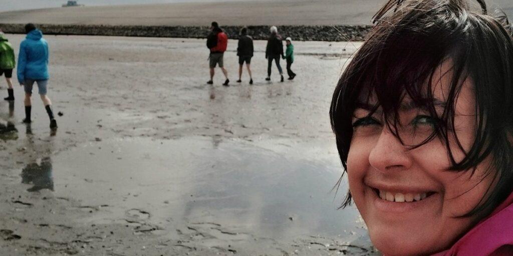 Monatsrückblick August 2021 - Carolin bei der Wattwanderung vor Norddeich