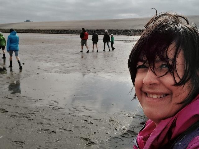 Carolin bei der Wattwanderung vor Norddeich