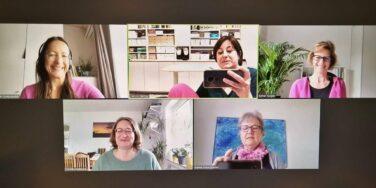 Zoom-Call für das Co-Blogging in der Content Society mit Petra